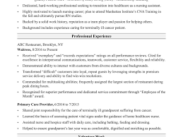 Magnificent Sample Resume Entry Level Certified Nursing Assistant