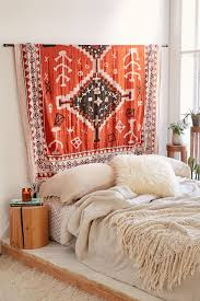 image of hanging rod for tapestry bedroom