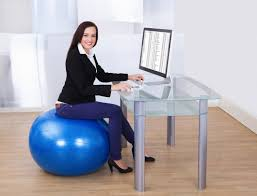 image office workout equipment. fitness ball instead of chair image office workout equipment