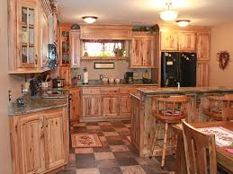 Custom rustic kitchen cabinets Elegant Customkitchencabinetrustichickory5 The Cabinets Plus The Cabinets Plus Cabinets