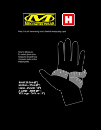 mechanix gloves size chart mechanix winter impact glove heinnie haynes