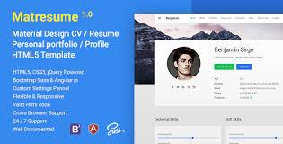 Matresume Material Cv Resume Vcard Portfolio Html Template