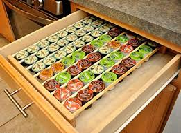 Small tray holds one insert. Coffee Pod Storage Organizer Insert For Drawer Holds