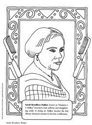 Small Picture Sarah Breedlove Walker coloring page Black History Month