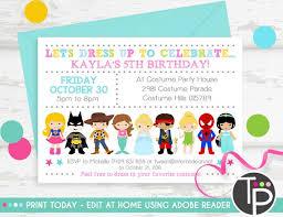 Dress Up Party Invitations Vf33 Advancedmassagebysara