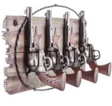Western Coat Rack Pistols Western Coat Rack Hook Set Farm House Ranch Home Decor Man 17