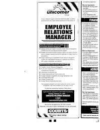 job advt employee relations manager utech alumni blog unicomer employee relations job