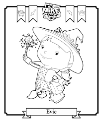 Small Picture Mike the Knight Coloring Pages