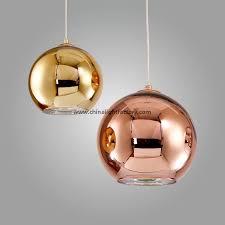tom dixon copper shade pendant light mirror ball glass pendant lamp 4026101