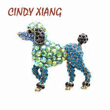 <b>CINDY XIANG 2 Colors</b> Choose Rhinestone Dog Brooches For ...