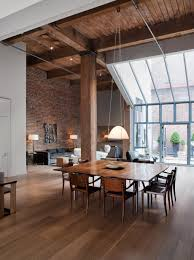 Warehouse Conversion in San Francisco.love the exposed brick and floor to  ceiling windows. High ceilings are beautiful.