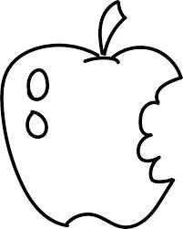 Coloring Page Apple Apple Color Page Apple Pictures To Color Unique