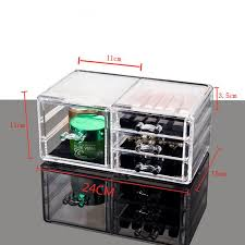 clear acrylic makeup organizer cosmetic jewelry storage box lipstick rack eyeshadow brushes drawer type display bo