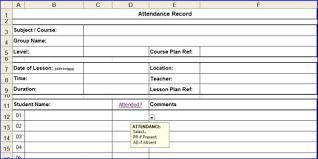 attendance spreadsheet excel excel attendance sheet