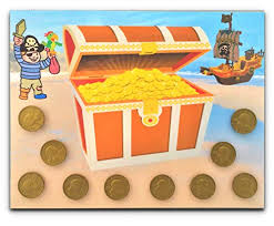 Earn Pirate Treasure With This Fun Interactive Behavior Chart Add Or Remove Coins Via Hook And Loop