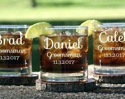 engraved crystal rocks glasses personalized groomsmen whiskey glass