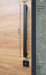 entry pull handle set in matte black finish plete with everything needed for the modern door and pivot doors ideal for when you want the handle to sit