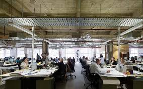 design an office. Modern Open Plan Office Design An L