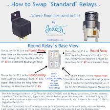 how to swap the old roundie relays standard bosch relays subaruloyalerelaypinconnections jpg t 12