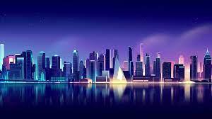Cityscape 4K Wallpaper, Neon, Skyline ...