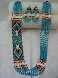 navajo bead designs. Traditional Native American Indian Navajo Style Feather Design Loom Beadwork Necklace And Earrings Set Bead Designs