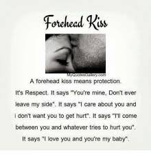 Kiss Quotes Beauteous Fohehead Rss Quotes Gallerycom A Forehead Kiss Means Protection It's