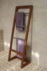 towel stand. Teak Towel Ladder Stand