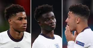 Black English Soccer Stars Marcus Rashford, Jadon Sancho, and Bukayo Saka  Supported by Fans After Racist Outburst