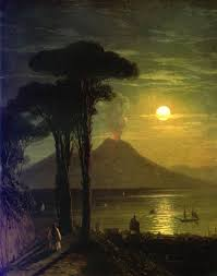 ivan aivazovsky the bay of naples in the moonlit night 1840