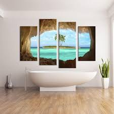 2019 4 panel cave seacape living rooms set wall painting print on canvas for home decor ideas paints on wall pictures art no framed from watchr