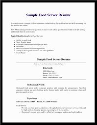 Resume For Waitress With No Experience Free Resume Example And