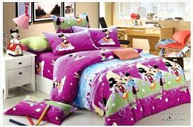 minnie bed set mouse bedding set full size purple brushed cotton mickey and mouse bedding sets