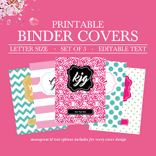 Free Editable Binder Covers And Spines Free Printable Monogram Binder Cover Covers No Download