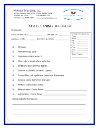 Mpc Spa Cleaning Checklist 2018 Monarch Pools