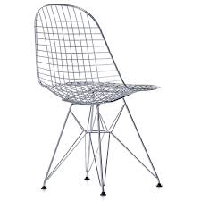 vitra wire chair dkr chrome plated backside