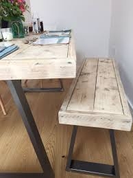 plank table dining table with bench diy table dining room table dining