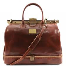 tuscany leather barcelona double bottom gladstone leather bag brown tl141185 1
