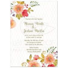 floral wedding invitation olive green and pink watercolor flowers Pink And Green Wedding Invitation Templates olive green and pink watercolor flowers wedding invitation Printable Wedding Invitation Templates