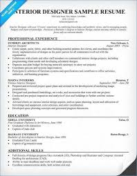 Interior Design Resume Templates Unique Interior Design Resume Examples Luxury Interior Design Resume Unique