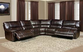 leather reclining sectional.  Leather Pegasus 5 Piece Power Reclining Sectional In Nutmeg Synthetic Leather By  Parker House  MPEG811LPNU5 And