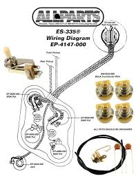 epiphone dot wiring diagram epiphone image wiring wiring kits for guitars basses allparts uk on epiphone dot wiring diagram