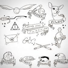 Pin Di Laura C Su Tattoos Disegni Di Harry Potter Cose Da