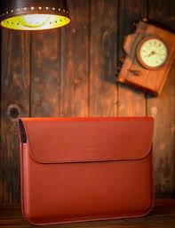 <b>Чехол</b> для ноутбука из <b>натуральной</b> кожи красный в Москве