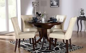 elegant dark wood round table dark wood round dining table and chairs insurservice