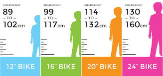 Child Bike Size Chart What Size Bike Does Your Child Need Toys Parenting In