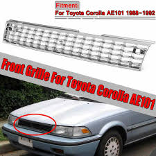 1996 Toyota Corolla Brake Light Stays On 1x High Quality Grill Corolla Chrome Silver Car Front Grille