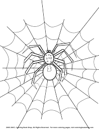 Small Picture Halloween spider printable coloring page