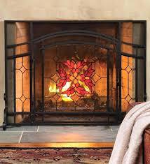 glass door fireplace fireplace screen and glass doors memorable outstanding screens with door in ordinary home