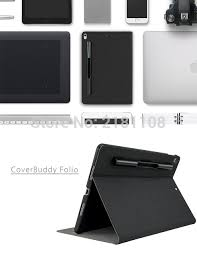 new 2018 coverbuddy folio leather cover flip case for ipad pro 10 5 apple pencil holder smart cover