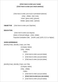 Download Resume Format Template